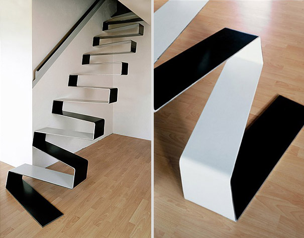19 - Escada Criativa Ribbon Staircase por HSH Architects 2
